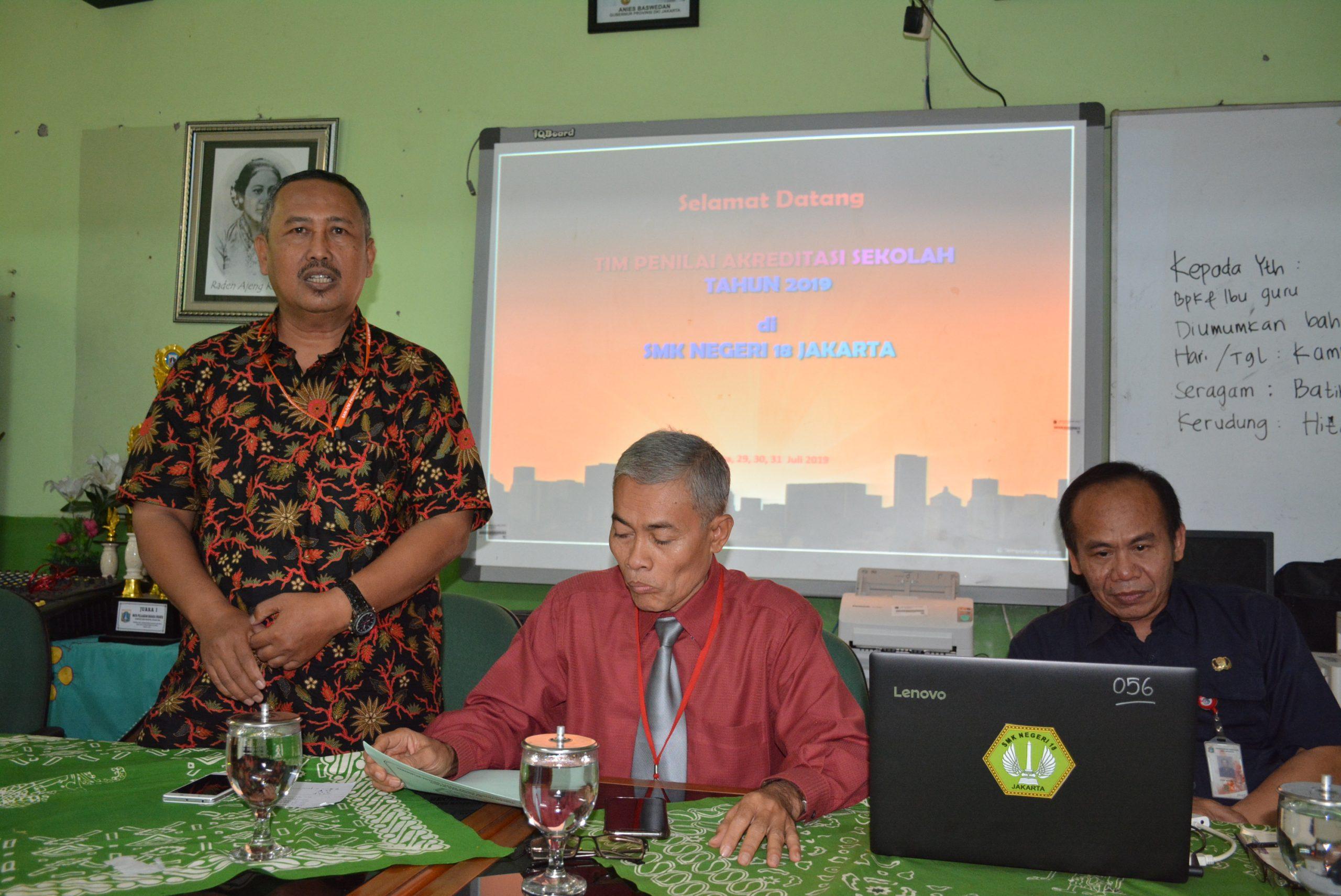 Kegiatan Akreditasi SMK Negeri 18 Jakarta